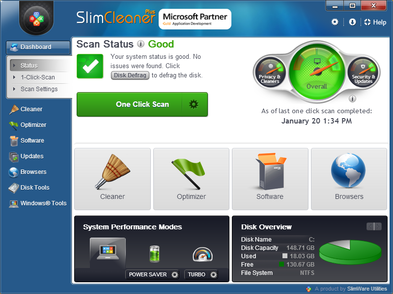 Click to view SlimCleaner Plus screenshots